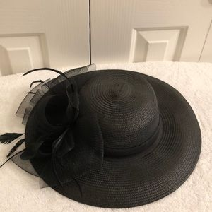 Kate Landry black polyester hat